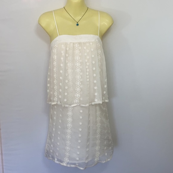 House of Harlow 1960 Silk Peplum Dress Euc Med